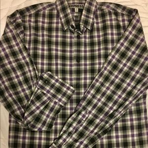 Fitted Express Collared Long Sleeve Button Down